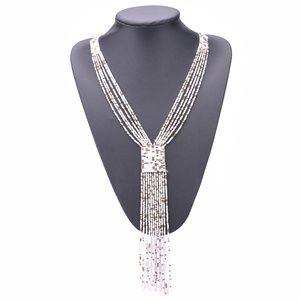 Jewelry - B2G1 NEW Boho White/Gold Beaded Tassel Necklace